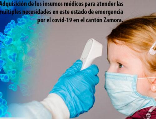 Convocatoria para adquisición de insumos médicos para atender múltiples necesidades por el estado de emergencia por el covid-19 en el cantón Zamora.